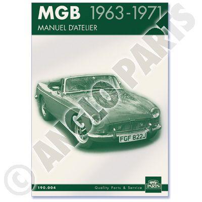 MGB 63-71 MANUEL D'ATELIER 1