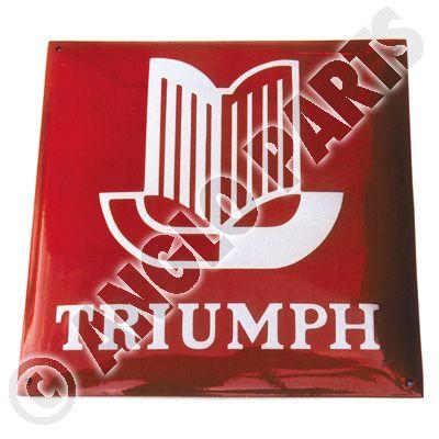 TRIUMPH RED ENAMEL 1