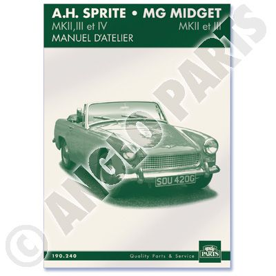 AH SPR/MG MIDG. MANUEL D'ATELIER 1