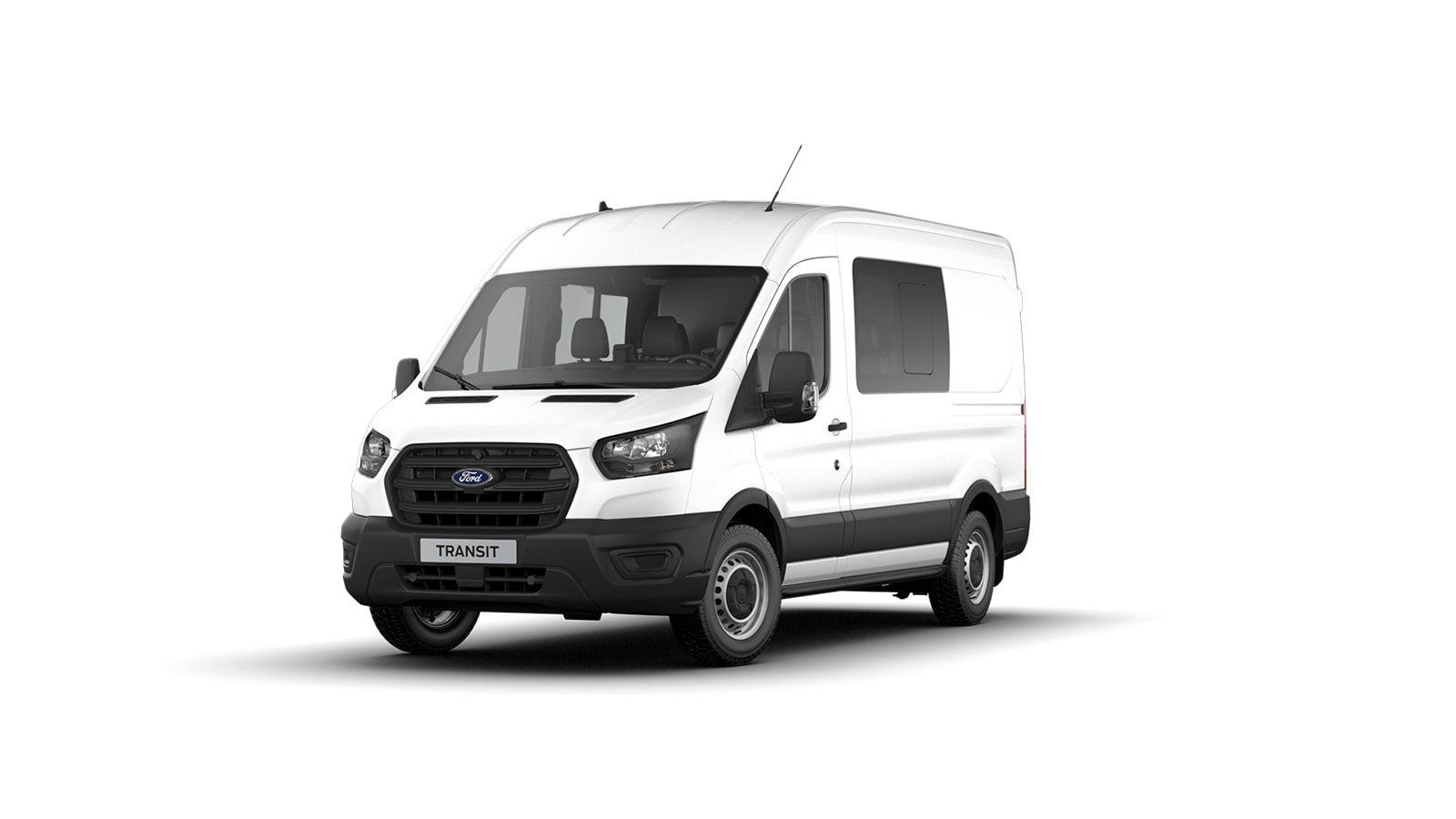 Nieuw Ford Transit 2t mca 350L Minibus L3 Trend mHEVM6 2.0 TD 130 pk M1 Euro 6.2 AXW - niet-metaalkleur: Frozen White 1