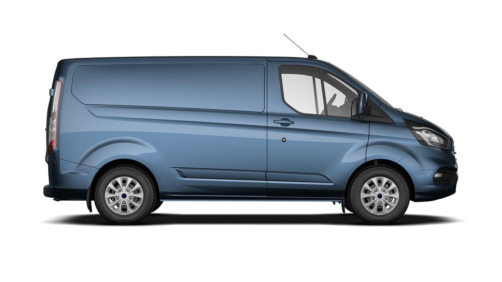 Nieuw Ford Transit custom 340S Gesloten bestelwagen L1 Limited pHEVAut 1.0 Petrol 125 BYB - Metaalkleur: Chrome Blue 4