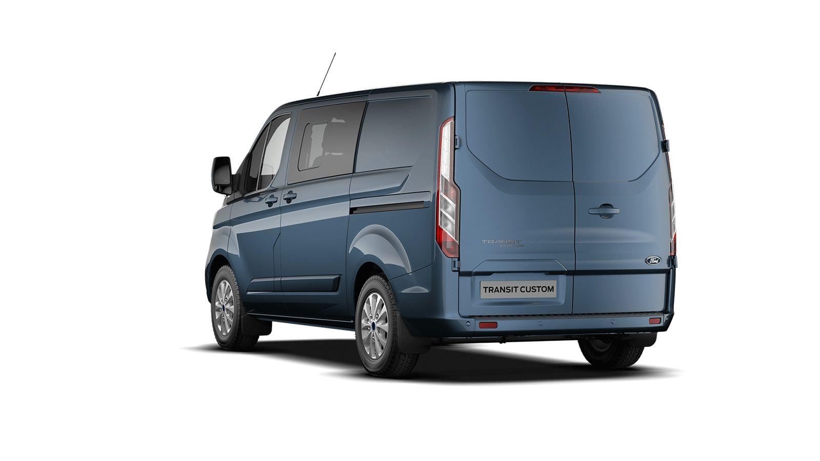 Demo Ford Transit custom 320L Multi use: bestelwagen met dubbele cabine L1 Limited MS BYB - Metaalkleur: Chrome Blue 2