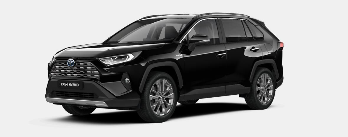 Nieuw Toyota Rav4 5 d. 2.5 Hybrid 2WD e-CVT Premium Plus L 218 - BLACK MICA 1