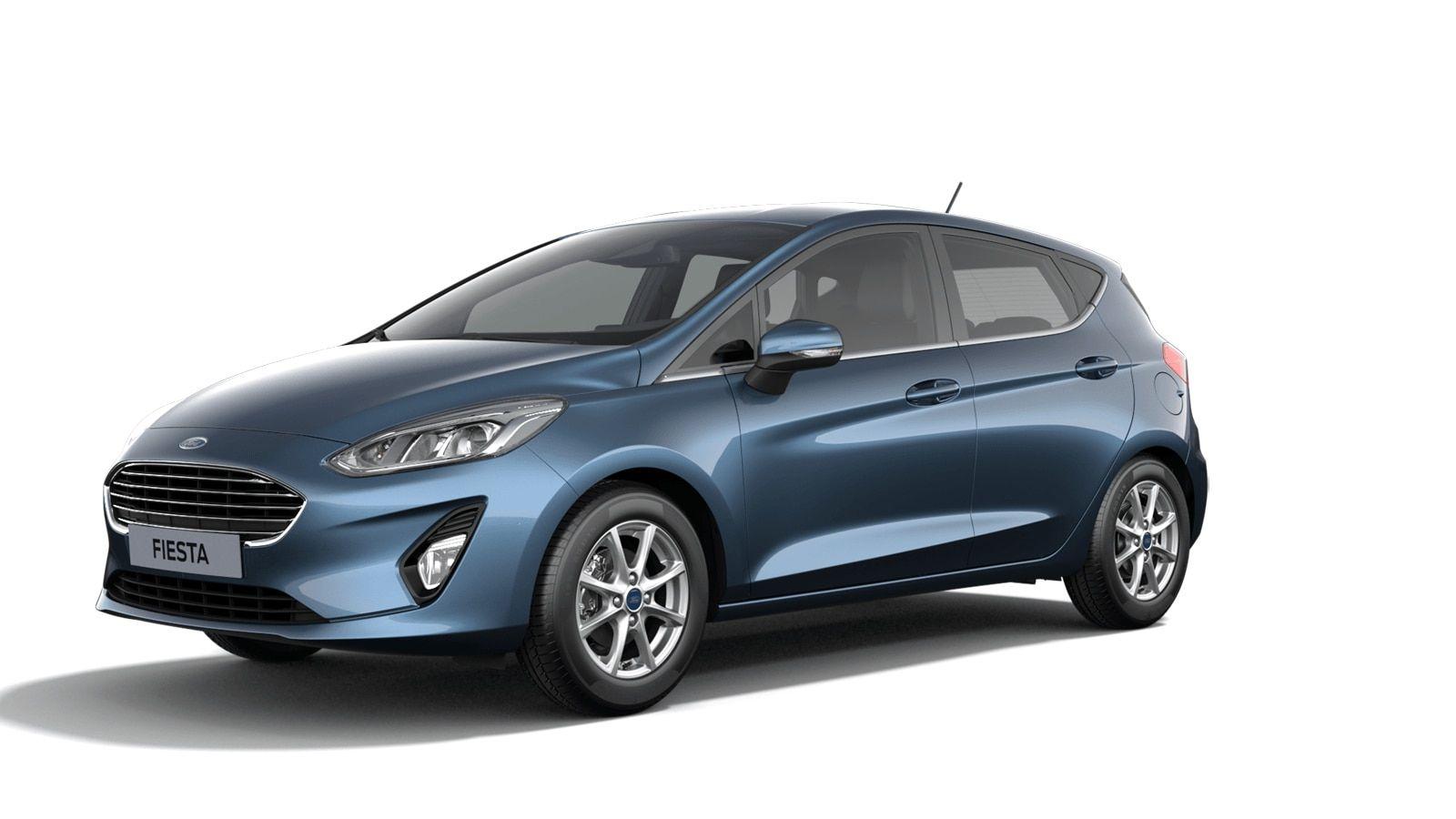 """Nieuw Ford All-new ford fiesta Titanium 1.0i EcBoost 95pk / 70kW M6 5d JKC - Metaalkleur """"Chrome Blue"""" 1"""