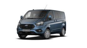 Demo Ford Transit custom 320L Multi use: bestelwagen met dubbele cabine L1 Limited MS BYB - Metaalkleur: Chrome Blue