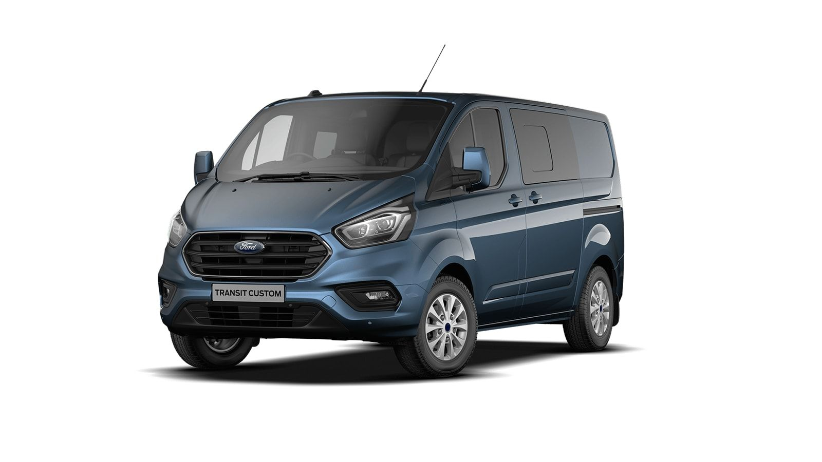 Demo Ford Transit custom 320L Multi use: bestelwagen met dubbele cabine L1 Limited MS BYB - Metaalkleur: Chrome Blue 1