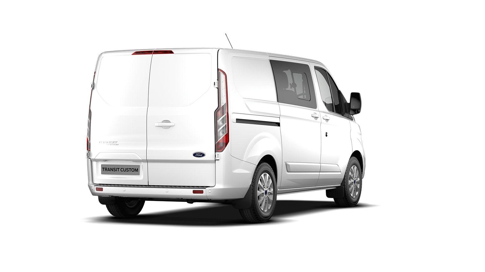 Nieuw Ford Transit custom 320L Multi use: bestelwagen met dubbele cabine L1 Limited MS BYW - niet-metaalkleur: Frozen White 3