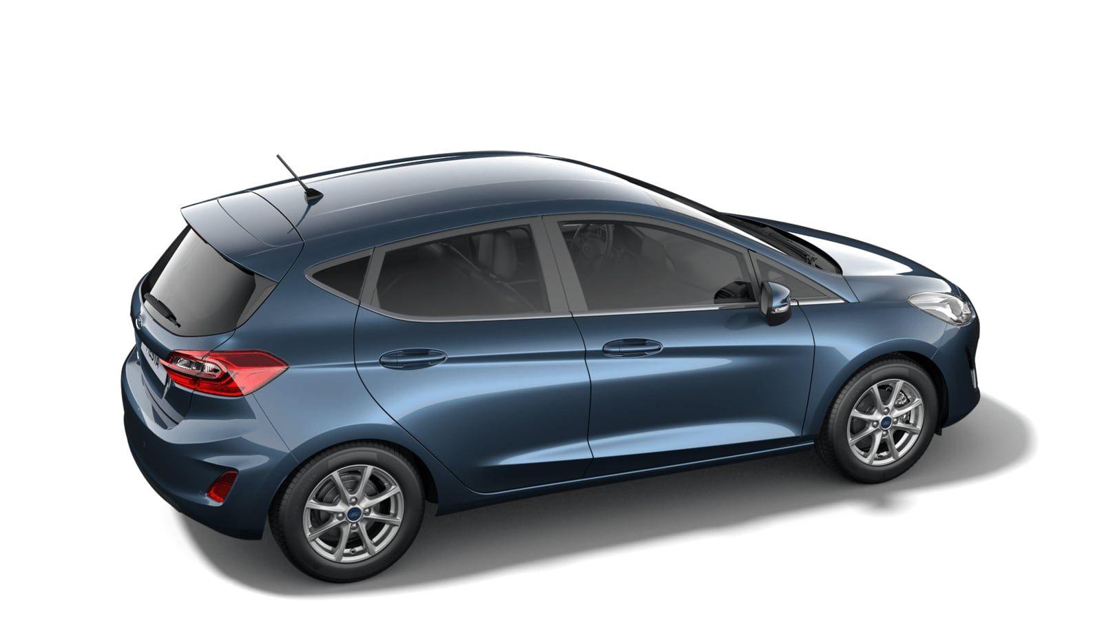 """Nieuw Ford All-new ford fiesta Titanium 1.0i EcBoost 95pk / 70kW M6 5d JKC - Metaalkleur """"Chrome Blue"""" 2"""
