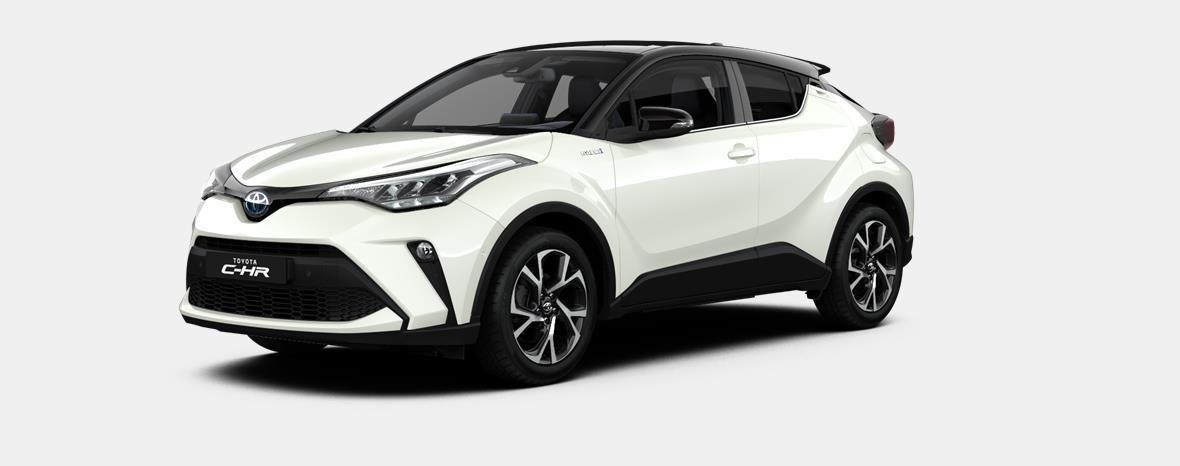 Nieuw Toyota Toyota c-hr 5 d. 1.8L Hybrid CVT C-LUB BI-TONE LHD 2NA - Pearl white  / black 1