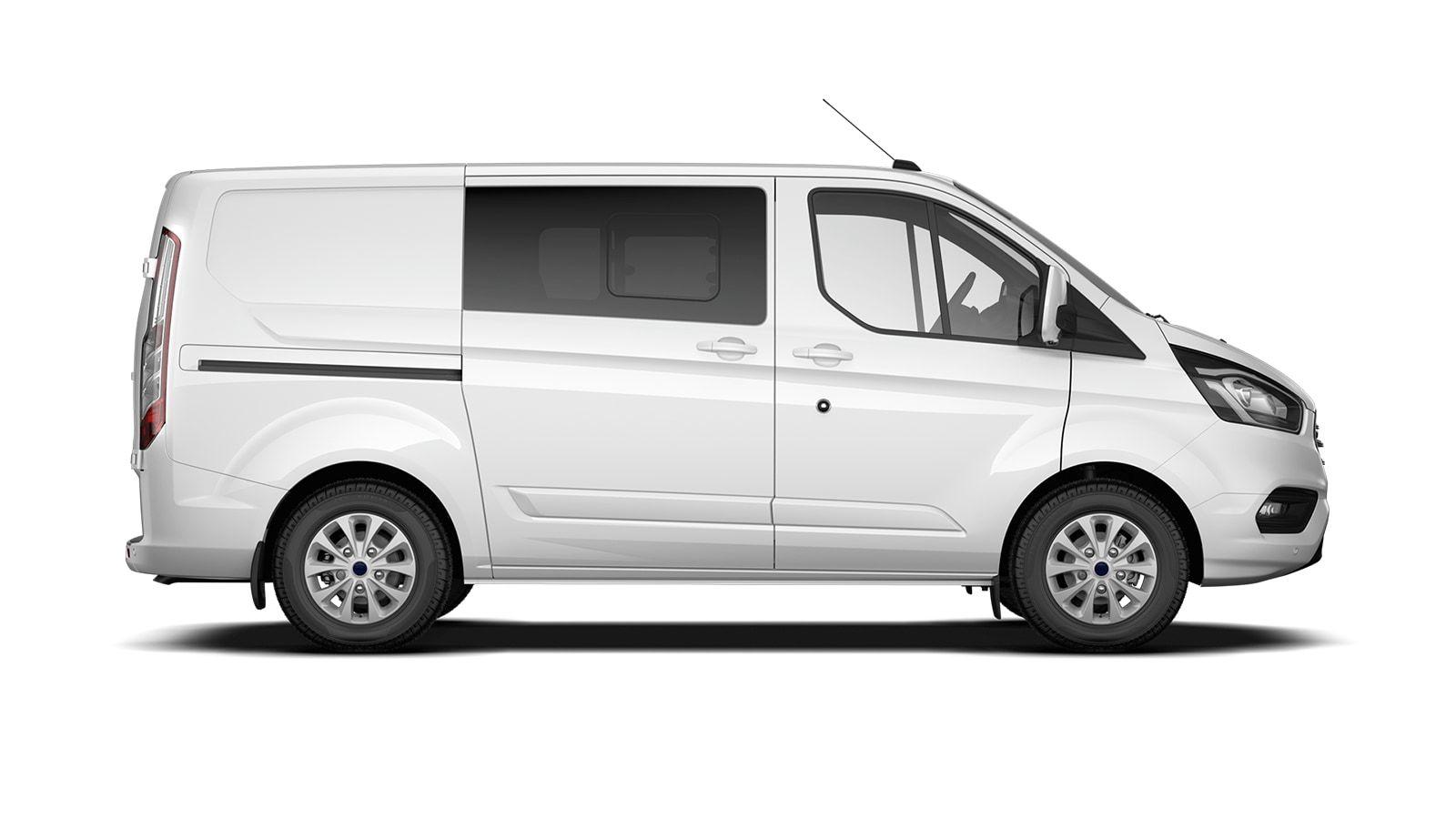 Nieuw Ford Transit custom 320L Multi use: bestelwagen met dubbele cabine L1 Limited MS BYW - niet-metaalkleur: Frozen White 4