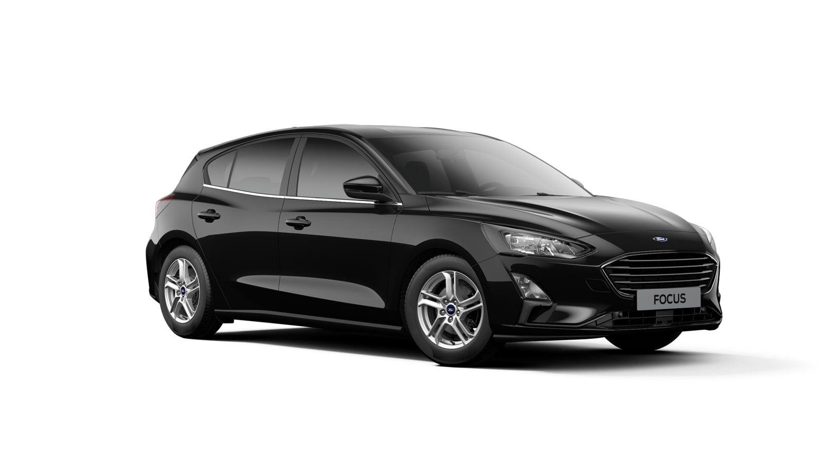 "Nieuw Ford Focus Connected 1.0i EcoBoost 125pk / 92kW mHEV M6 - 5d FCA - ""Agate Black"" Metaalkleur 2"