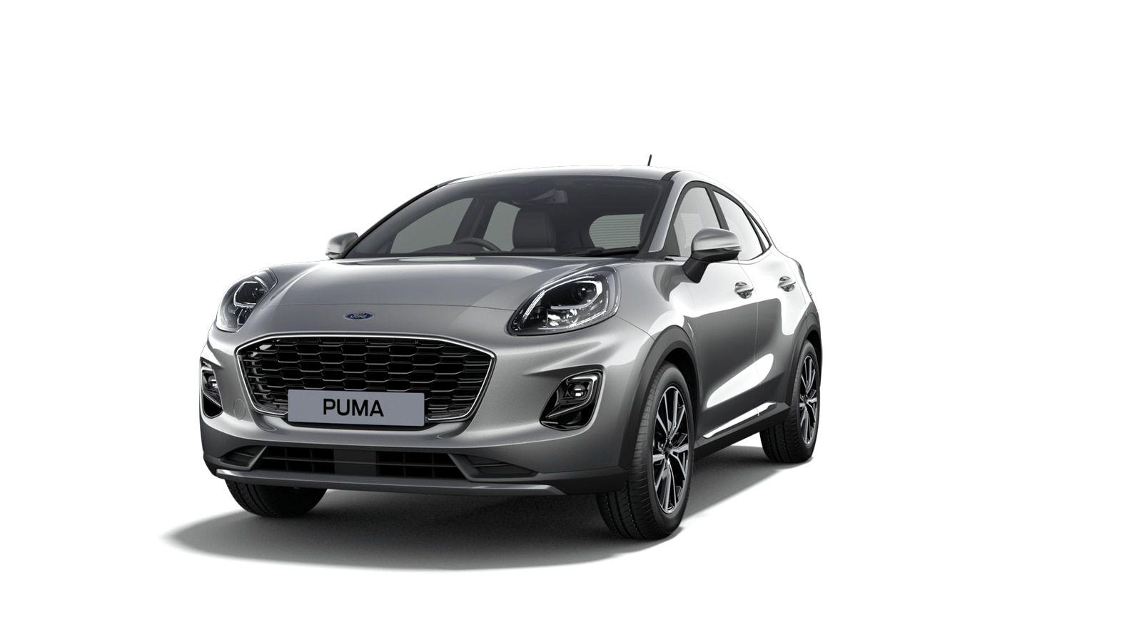 "Nieuw Ford Puma Titanium 1.0i EcoBoost mHEV 125ps / 92kW M6 2ZM - Metaalkleur ""Solar Silver"" 1"