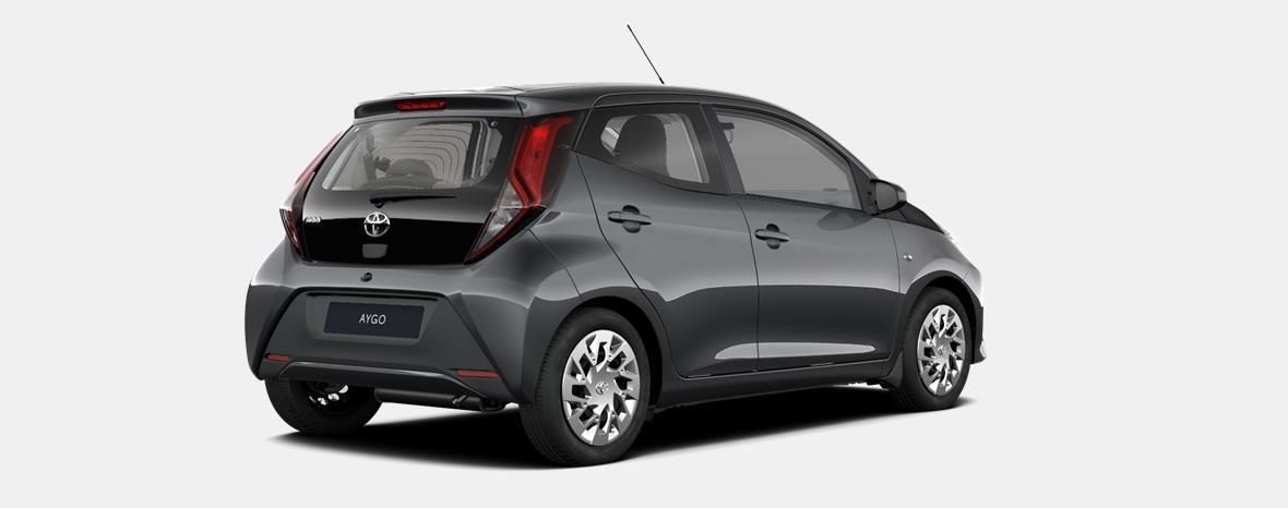 Nieuw Toyota Aygo 5 d. 1.0 VVT-i 5MT x-play II LHD 1G3 - DARK GREY METALLIC 3