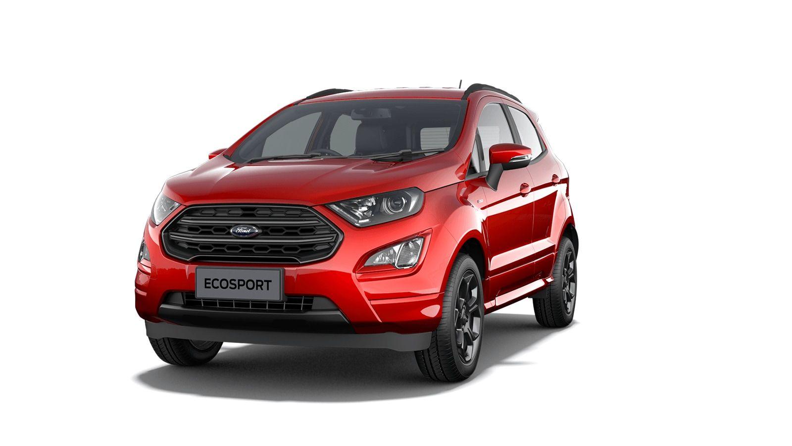 "Nieuw Ford New ecosport Titanium 1.0i EcoBoost 125pk / 92kW M6 - 5d 6GZ - Exclusieve metaalkleur ""Fantastic Red"" 1"