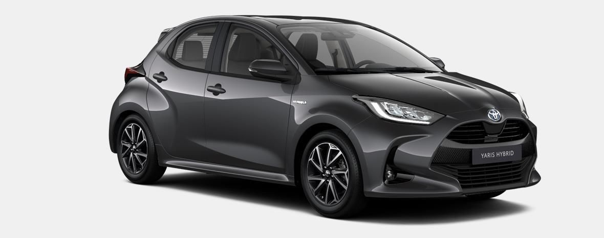 Demo Toyota Yaris 5 d. 1,5 Hybrid e-CVT Comfort & Pack Y-C 1G3 - DARK GREY METALLIC 2