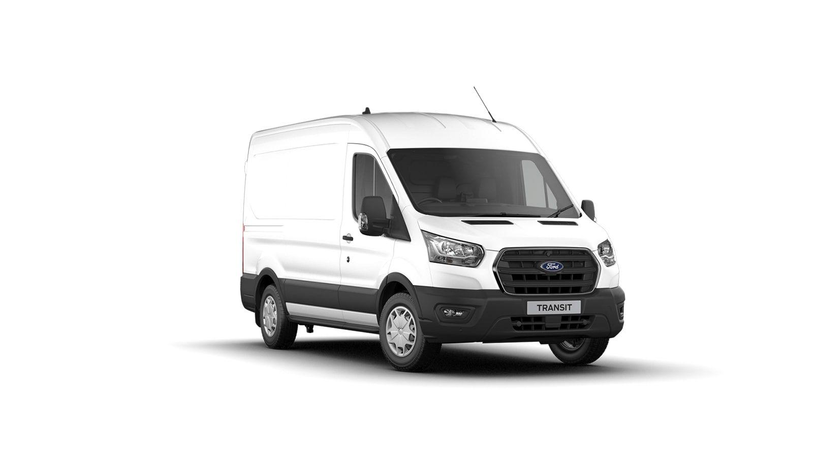 Nieuw Ford Transit 2t mca 350E Chassis enkele cabine L4 Trend/zonder laadbak M6 2.0 TD AXW - niet-metaalkleur: Frozen White 1