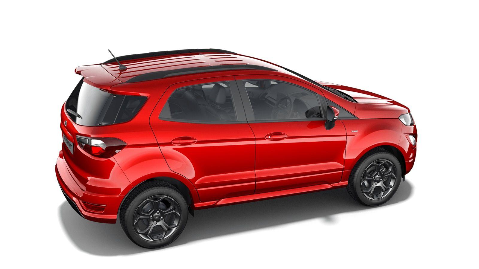 "Nieuw Ford New ecosport Titanium 1.0i EcoBoost 125pk / 92kW M6 - 5d 6GZ - Exclusieve metaalkleur ""Fantastic Red"" 2"