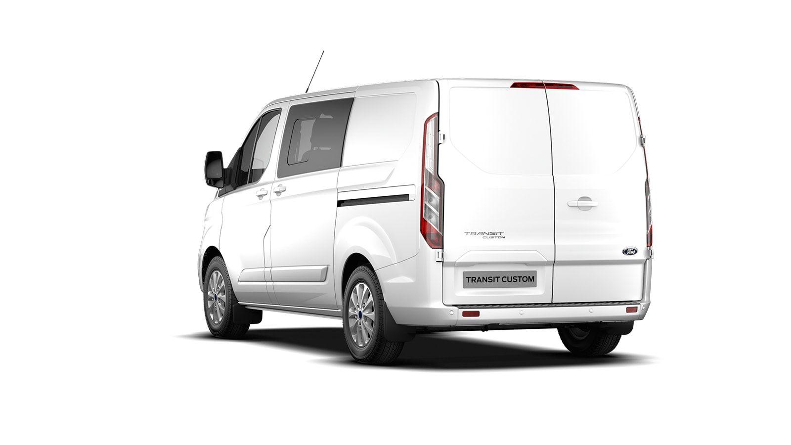Nieuw Ford Transit custom 320L Multi use: bestelwagen met dubbele cabine L1 Limited MS BYW - niet-metaalkleur: Frozen White 2