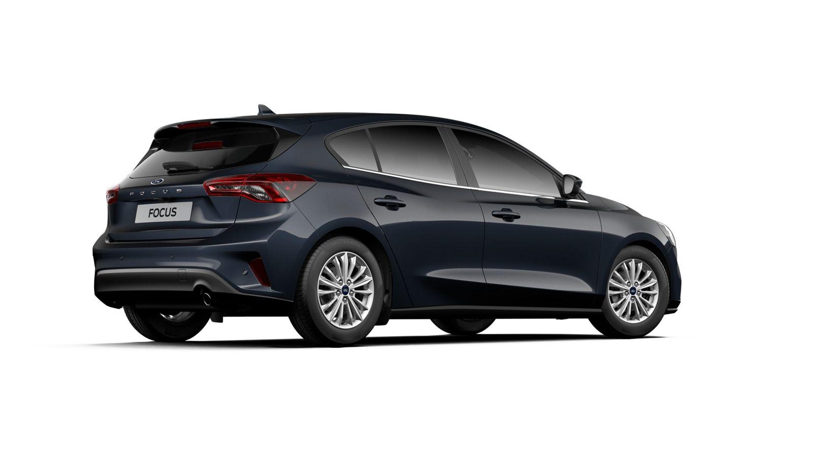 "Nieuw Ford Focus Tit X 1.0 EcoBoost 125pk A8 CL FCD - ""Panther Blue"" Exclusieve metaalkleur 3"