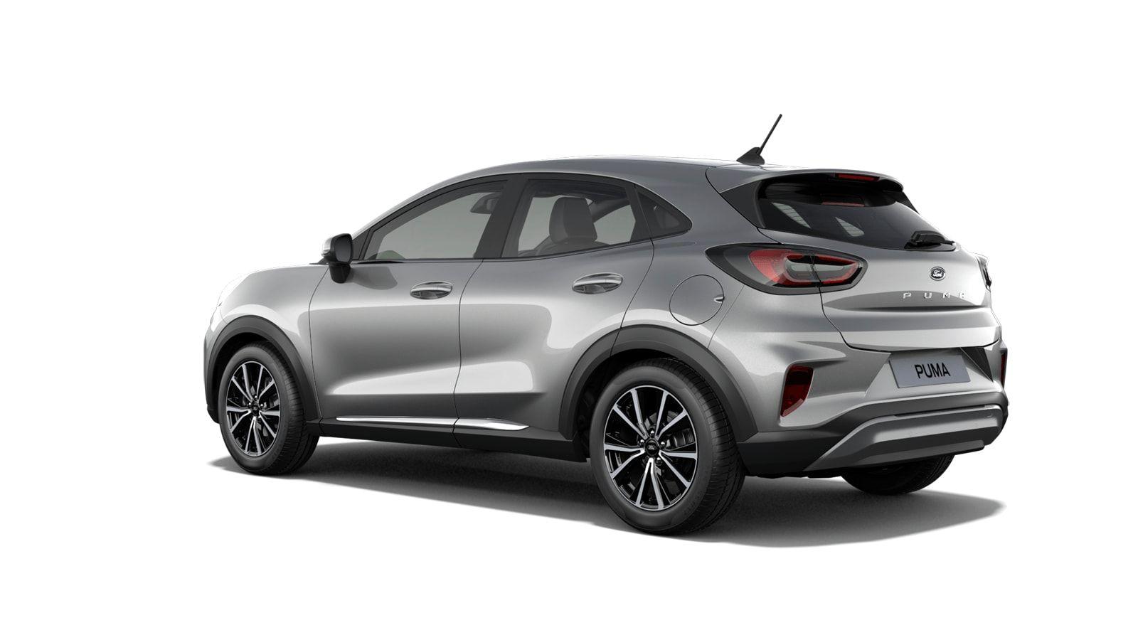 "Nieuw Ford Puma Titanium 1.0i EcoBoost mHEV 125ps / 92kW M6 2ZM - Metaalkleur ""Solar Silver"" 2"