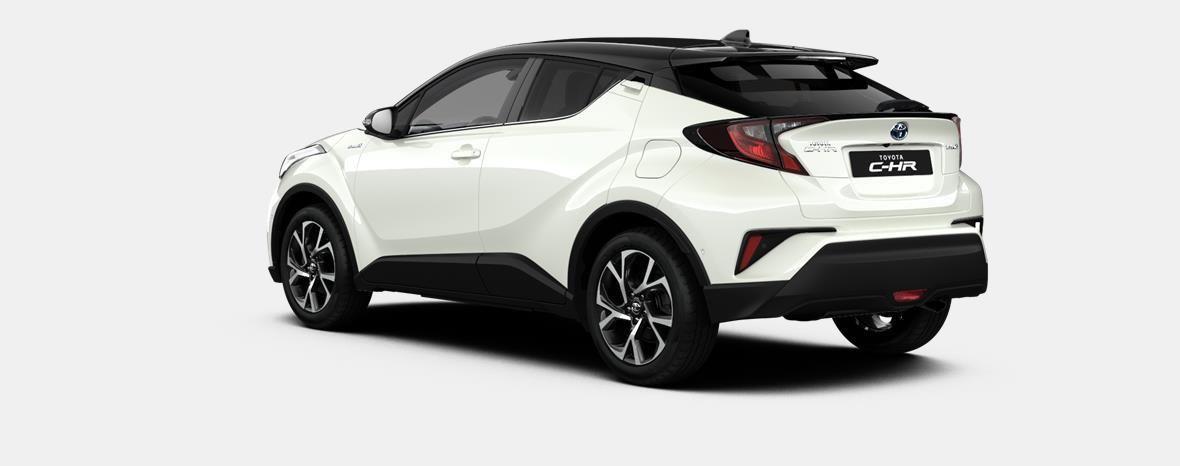 Nieuw Toyota Toyota c-hr 5 d. 1.8L Hybrid CVT C-LUB BI-TONE LHD 2NA - Pearl white  / black 2