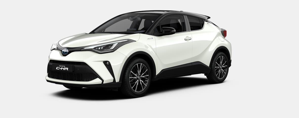 Nieuw Toyota Toyota c-hr 5 d. 1.8L Hybrid CVT C-HIC LHD 2NA - Pearl white  / black 1
