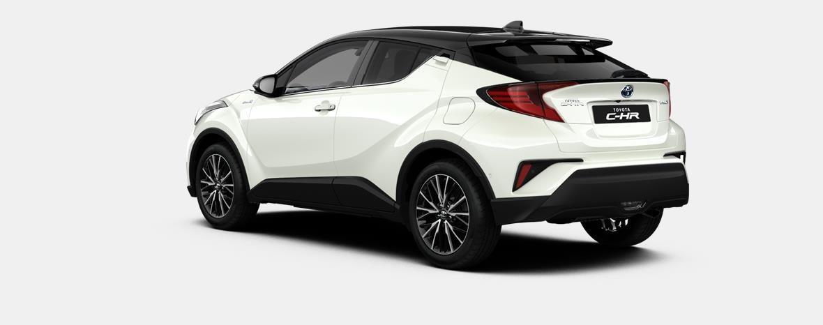 Nieuw Toyota Toyota c-hr 5 d. 1.8L Hybrid CVT C-HIC LHD 2NA - Pearl white  / black 4