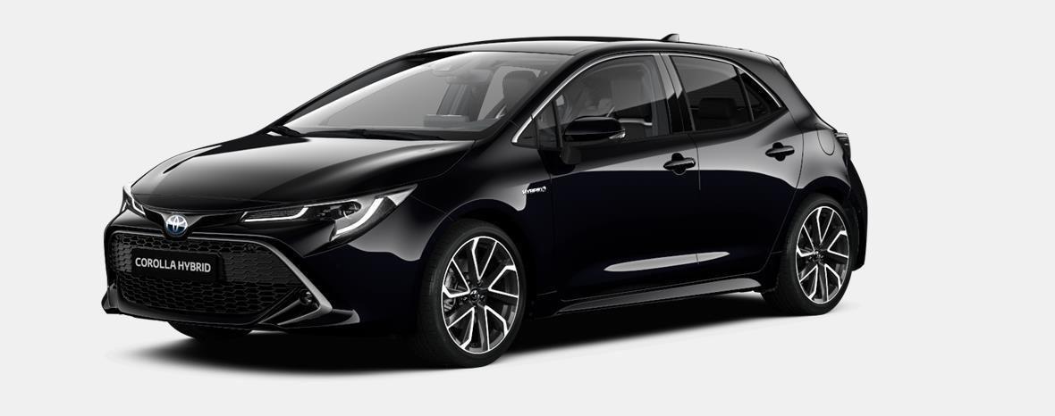 Nieuw Toyota Corolla hb & ts Hatchback 1.8 e-CVT Hybrid CVT Dynamic L 209 - BLACK MICA 1
