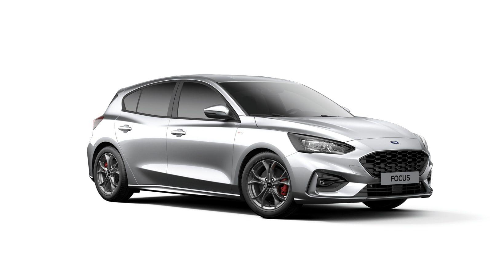 "Nieuw Ford Focus ST-Line X 1.0i EcoBoost 125pk / 92kW A8 - Clipper FCO - ""Moondust Silver"" Metaalkleur 2"