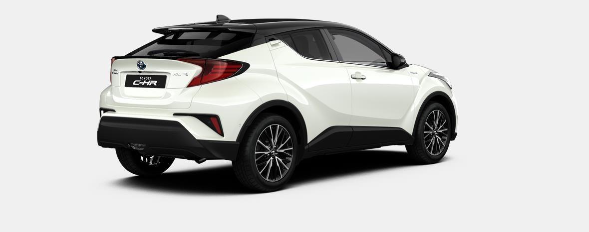 Nieuw Toyota Toyota c-hr 5 d. 1.8L Hybrid CVT C-HIC LHD 2NA - Pearl white  / black 3