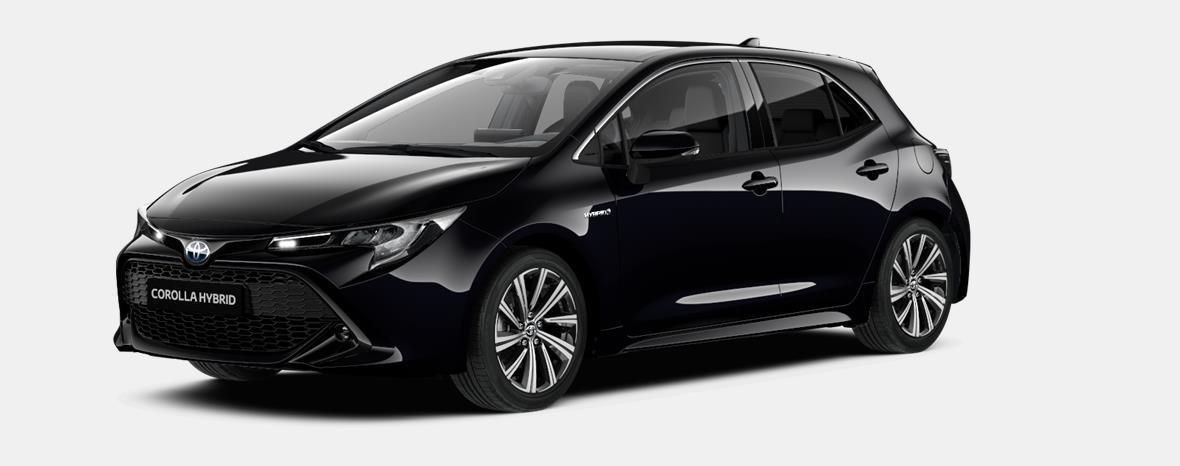 Nieuw Toyota Corolla hb & ts Hatchback 1.8 Hybrid CVT Dynamic LHD 209 - BLACK MICA 1