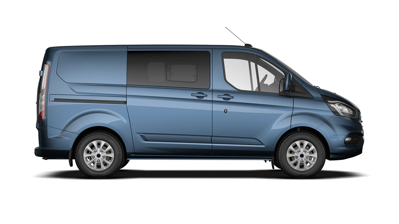 Demo Ford Transit custom 320L Multi use: bestelwagen met dubbele cabine L1 Limited MS BYB - Metaalkleur: Chrome Blue 4
