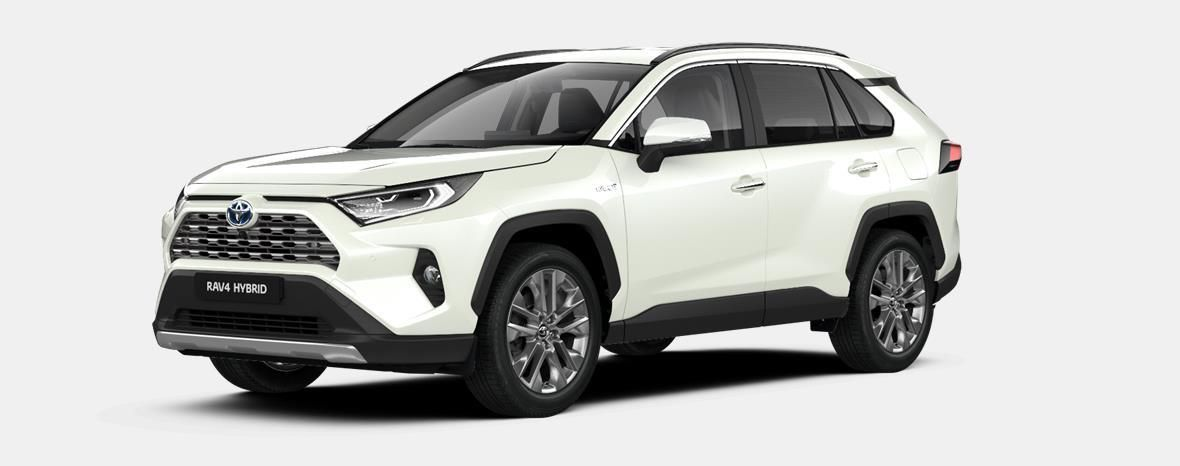 Nieuw Toyota Rav4 5 d. 2.5 Hybrid 2WD e-CVT Premium Plus L 070 - WHITE PEARL (070) 1