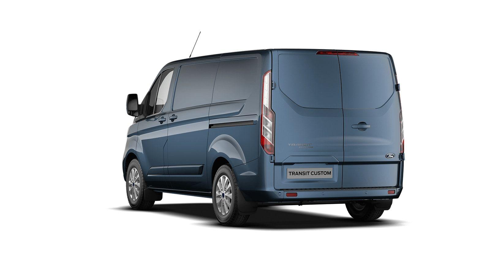 Nieuw Ford Transit custom 340S Gesloten bestelwagen L1 Limited pHEVAut 1.0 Petrol 125 BYB - Metaalkleur: Chrome Blue 2
