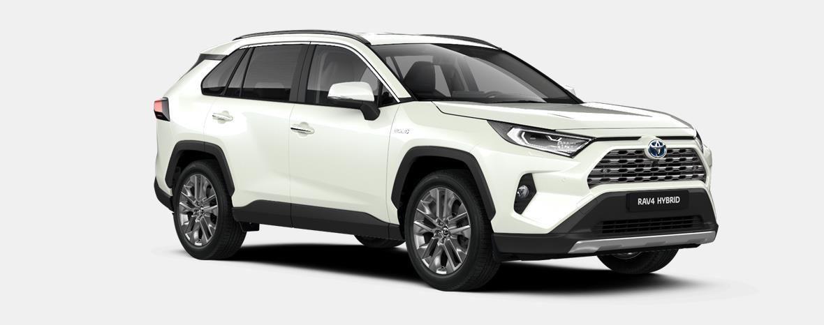 Nieuw Toyota Rav4 5 d. 2.5 Hybrid 2WD e-CVT Premium Plus L 070 - WHITE PEARL (070) 4