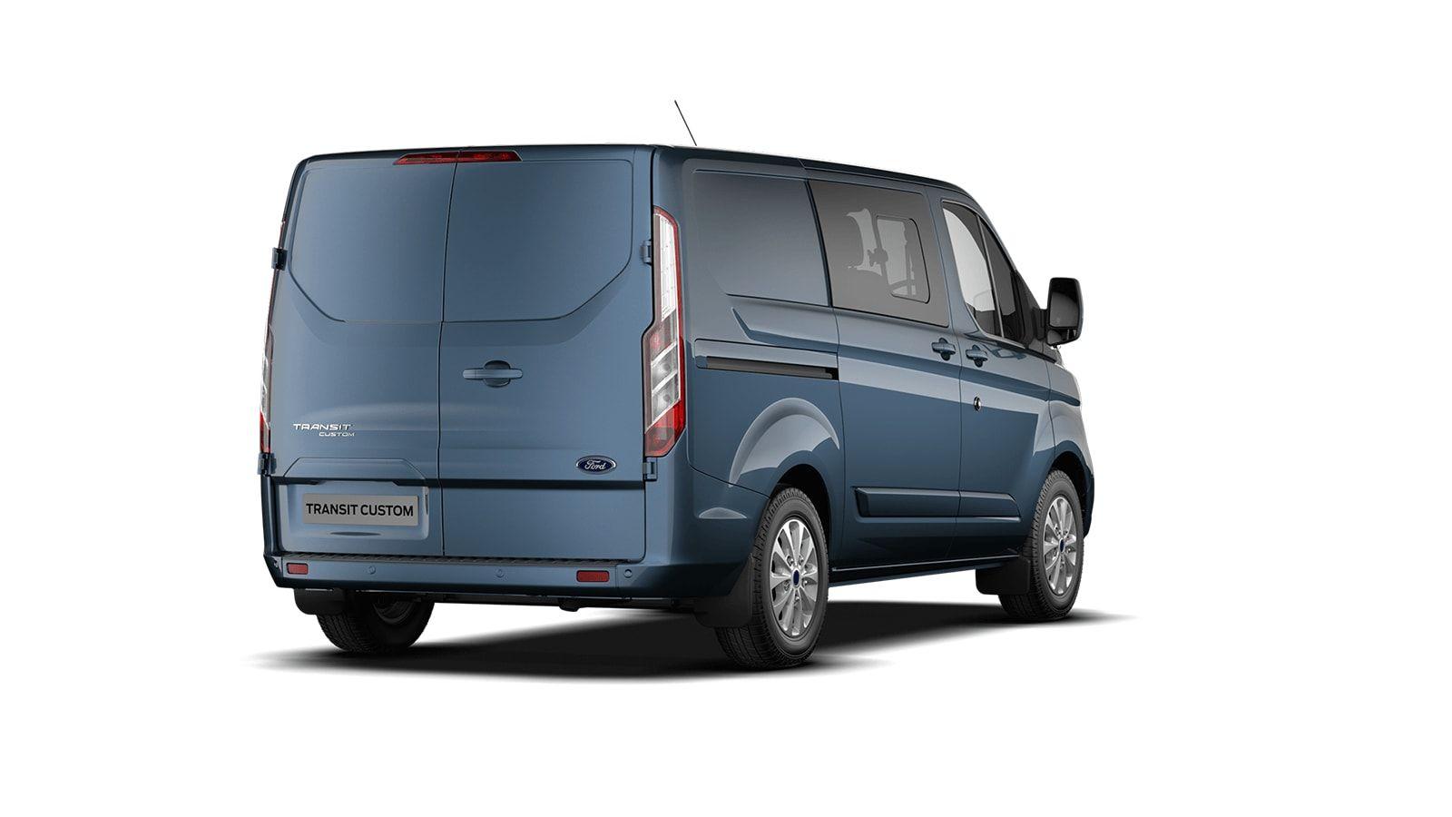 Demo Ford Transit custom 320L Multi use: bestelwagen met dubbele cabine L1 Limited MS BYB - Metaalkleur: Chrome Blue 3