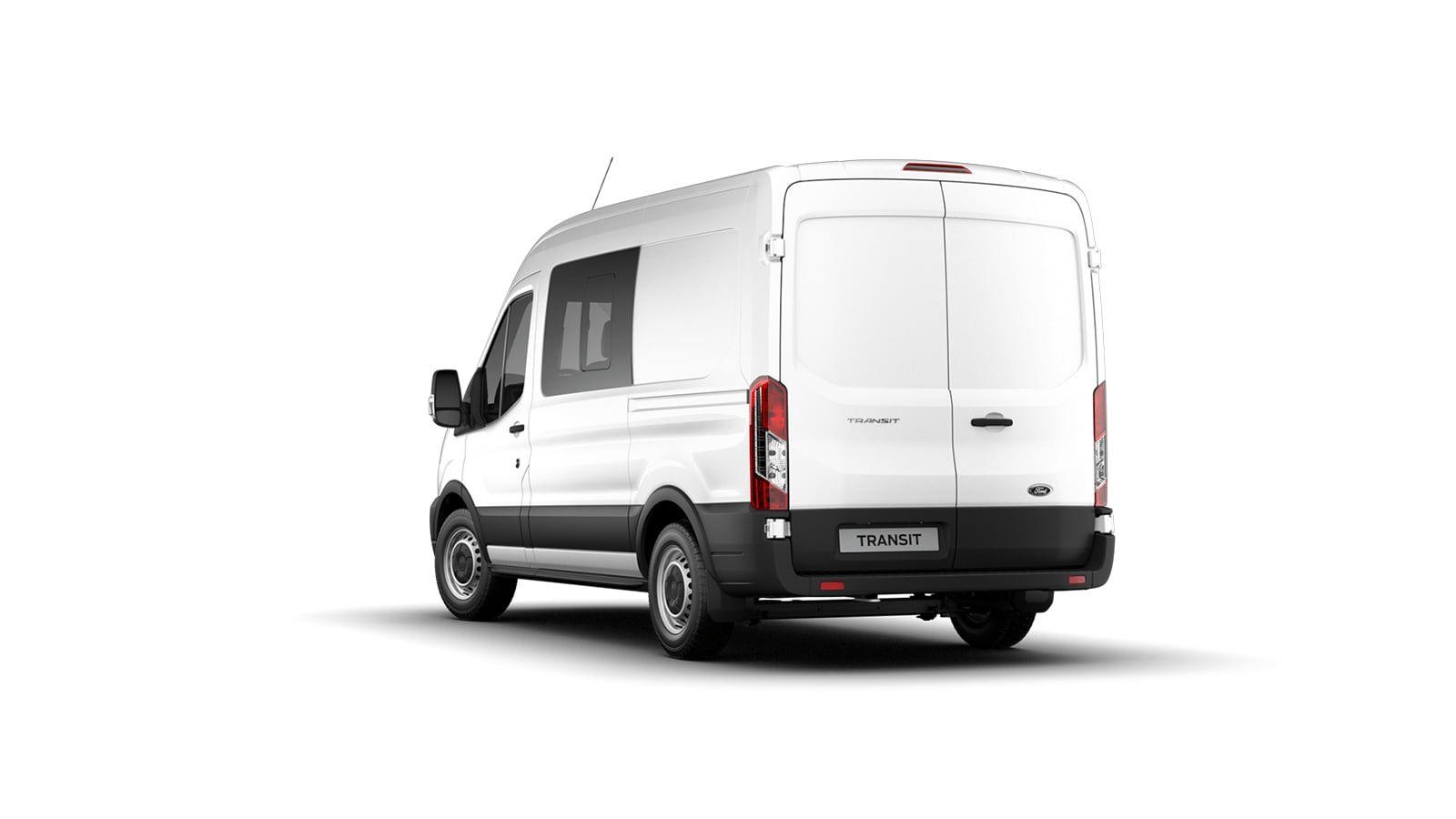 Nieuw Ford Transit 2t mca 350L Minibus L3 Trend mHEVM6 2.0 TD 130 pk M1 Euro 6.2 AXW - niet-metaalkleur: Frozen White 3