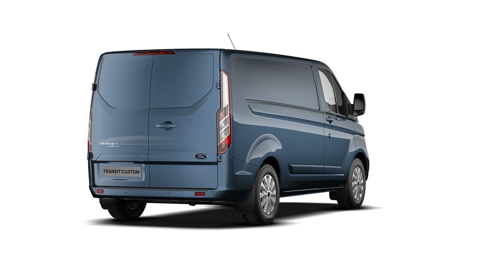 Nieuw Ford Transit custom 340S Gesloten bestelwagen L1 Limited pHEVAut 1.0 Petrol 125 BYB - Metaalkleur: Chrome Blue 3