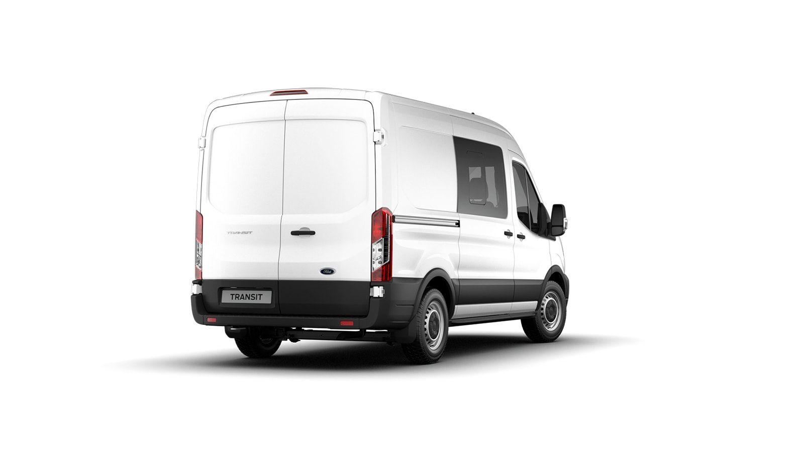 Nieuw Ford Transit 2t mca 350L Minibus L3 Trend mHEVM6 2.0 TD 130 pk M1 Euro 6.2 AXW - niet-metaalkleur: Frozen White 4