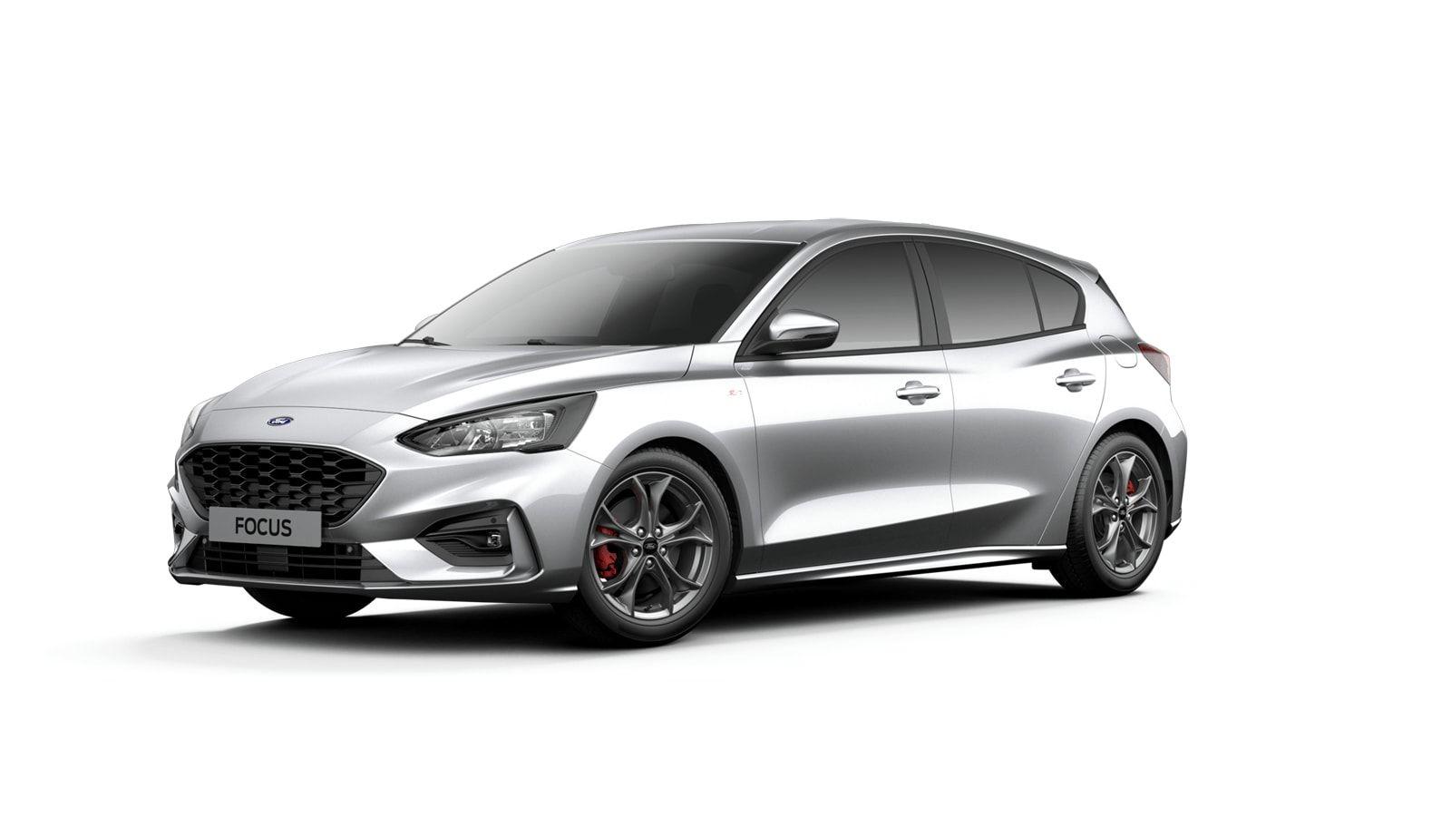 "Nieuw Ford Focus ST-Line X 1.5 EcoBlue 120pk / 88kW A8 - Clipper FCO - ""Moondust Silver"" Metaalkleur 1"