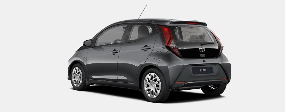 Nieuw Toyota Aygo 5 d. 1.0 VVT-i 5MT x-play II LHD 1G3 - DARK GREY METALLIC 2