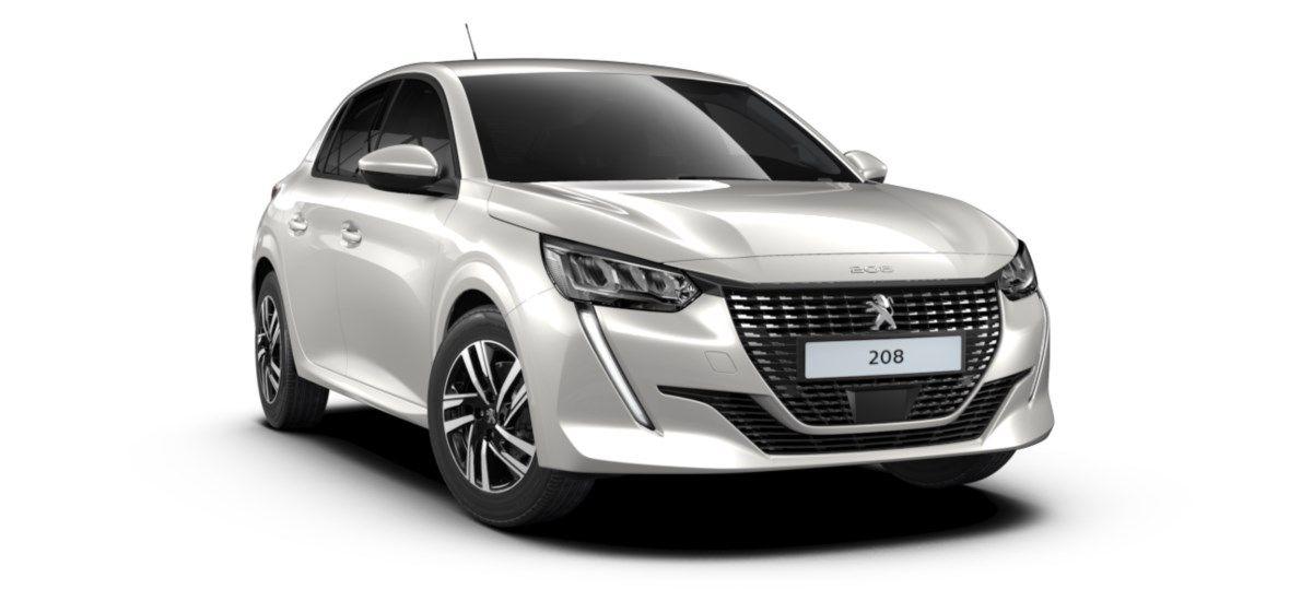 Nieuw Peugeot New 208 Berline 5 portes Allure Pack 1.2 PureTech 100ch EAT8 Blanc Nacré (M6N9) 1