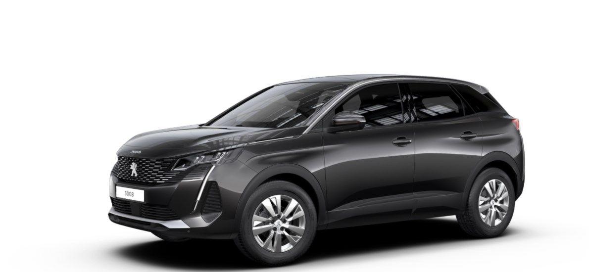 Nieuw Peugeot 3008 SUV Active Pack 1.5 BlueHDi 130 ch EAT8 Gris Platinium (M0VL) 1