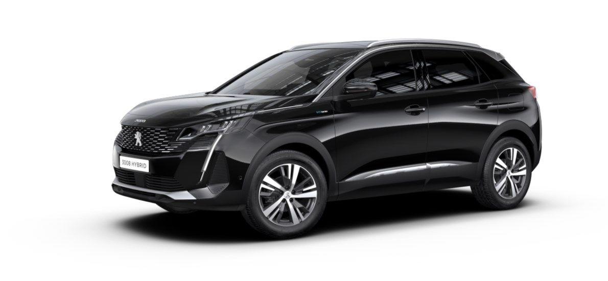 Nieuw Peugeot 3008 SUV Allure Pack Hybride Hybrid 225 ch 4X2 AUTOMATIQUE 8 RA Noir Perla Nera (M09V) 1