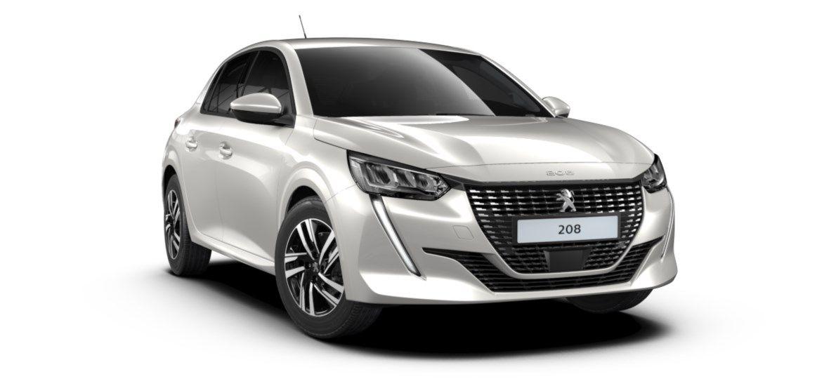 Nieuw Peugeot New 208 Berline 5 portes Allure Pack 1.2 PureTech 100ch S&S Manuelle 6 vitesses Blanc Nacré (M6N9) 1
