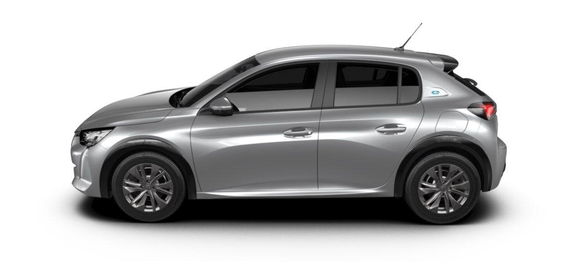 Nieuw Peugeot New 208 Berline 5 portes Active Pack Electrique e- AUTOMATIQUE A REDUCT Gris Artense (M0F4) 3