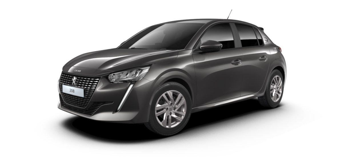 Nieuw Peugeot New 208 Berline 5 portes Active Pack 1.2 PureTech 100ch EAT8 Gris Platinium (M0VL) 2