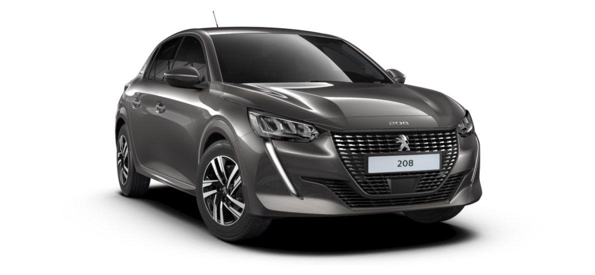 Nieuw Peugeot New 208 Berline 5 portes Allure Pack 1.2 PureTech 100ch S&S Manuelle 6 vitesses Gris Platinium (M0VL) 1