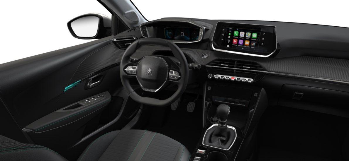 Nieuw Peugeot New 208 Berline 5 portes Allure Pack 1.2 PureTech 100ch S&S Manuelle 6 vitesses Blanc Nacré (M6N9) 10