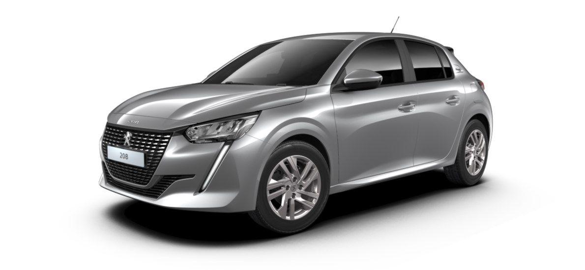 Nieuw Peugeot New 208 Berline 5 portes Active Pack 1.2 PureTech 100ch EAT8 Gris Artense (M0F4) 2